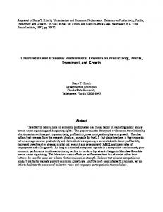 Unionization and Economic Performance: Evidence on Productivity ...