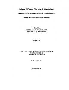 Unipolar Diffusion Charging of Spherical and ...