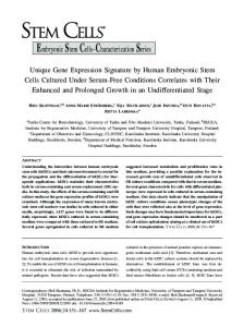 Unique Gene Expression Signature by Human ... - Wiley Online Library