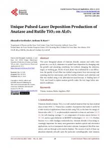 Unique Pulsed-Laser Deposition Production of