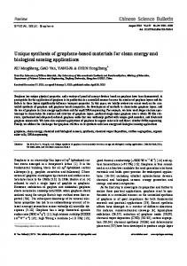 Unique synthesis of graphene-based materials for ... - Springer Link