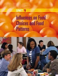 Unit 1 Influences on Food Choices and Food Patterns