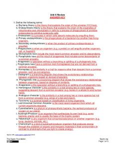 Unit 6 Review ANSWER KEY 1. Define the following ... - Saylor.org