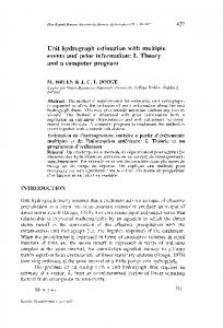 Unit hydrograph estimation with multiple events and prior ... - CiteSeerX