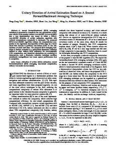 Unitary Direction of Arrival Estimation Based on A ... - IEEE Xplore