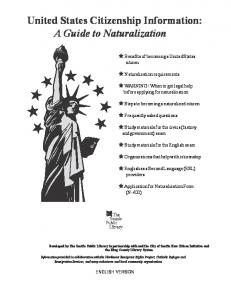 United States Citizenship Information: A Guide To Naturalization