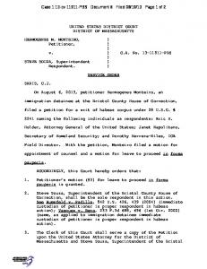 UNITED STATES DISTRICT COURT DISTRICT OF ...