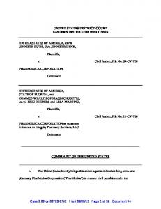 UNITED STATES DISTRICT COURT EASTERN DISTRICT OF ...