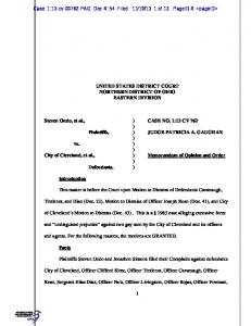 UNITED STATES DISTRICT COURT NORTHERN DISTRICT OF ...