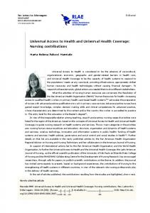 Universal Access to Health and Universal Health Coverage - SciELO