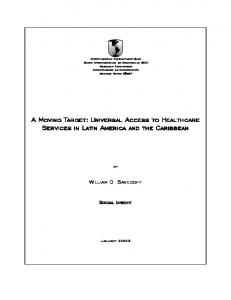Universal Access to Healthcare Services in Latin America and the