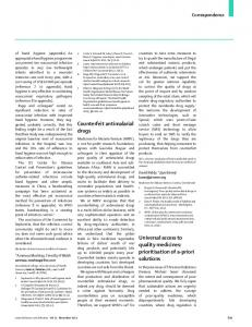 Universal access to quality medicines: prioritisation of a ... - The Lancet