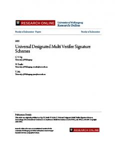 Universal Designated Multi Verifier Signature Schemes