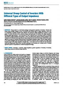 Universal Droop Control of Inverters With Different