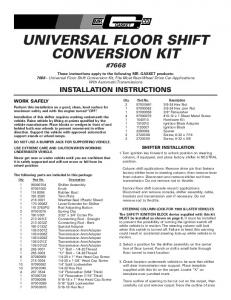 Universal Floor Shift Conversion Kit