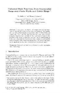 Universal Hash Functions from Exponential Sums over ... - Springer Link