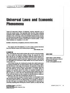 Universal laws and economic phenomena - CABDyN Complexity ...