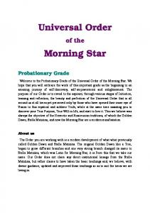 Universal Order Morning Star - Universal Order of the Morning Star
