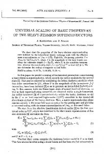 universal scaling of basic properties of the heavy-fermion