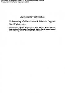 Universality of Giant Seebeck Effect in Organic Small Molecules