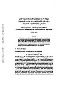 Universally Consistent Latent Position Estimation and Vertex ...