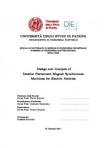 UNIVERSIT`A DEGLI STUDI DI PADOVA Design and Analysis of ...