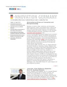 Universities as Drivers of Innovation and Entrepreneurship Interview ...