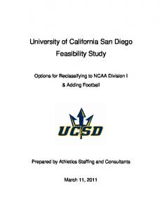 University of California San Diego Feasibility Study - UC San Diego ...
