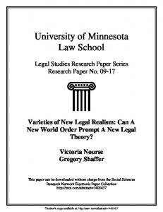 University of Minnesota Law School - SSRN papers