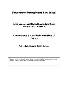 University of Pennsylvania Law School - SSRN papers