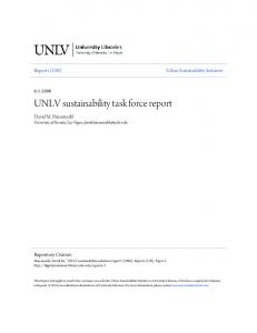 UNLV sustainability task force report