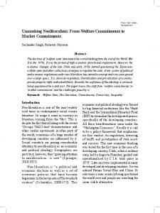 Unmasking Neoliberalism: From Welfare Commitments to Market ...
