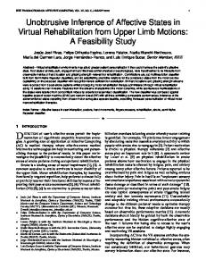 Unobtrusive Inference of Affective States in Virtual