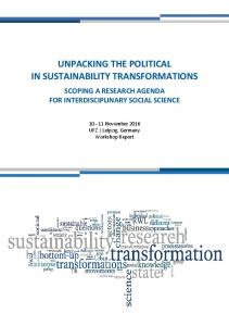 Unpacking the political in sustainability transformations - UfZ