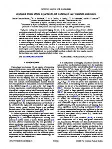 Unphysical kinetic effects in particle-in-cell ... - APS Link Manager