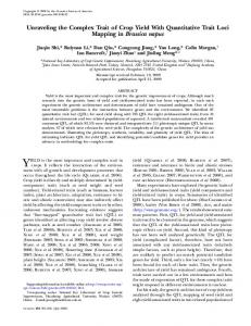 Unraveling the Complex Trait of Crop Yield With ... - Semantic Scholar