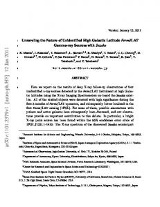 Unraveling the Nature of Unidentified High Galactic Latitude Fermi ...