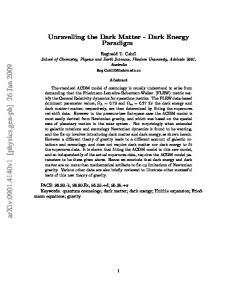 Unravelling the Dark Matter-Dark Energy Paradigm