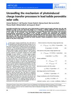 Unravelling the mechanism of photoinduced charge transfer