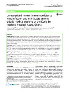 Unrecognized human immunodeficiency virus infection and risk ...