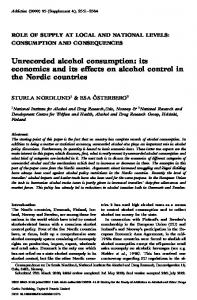Unrecorded alcohol consumption - Harm Reduction International