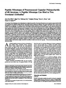 Unrelated Antibodies Peptide Mimotope Can Bind to Two Capsular ...