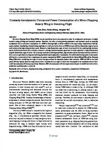 Unsteady Aerodynamic Forces and Power ... - Springer Link
