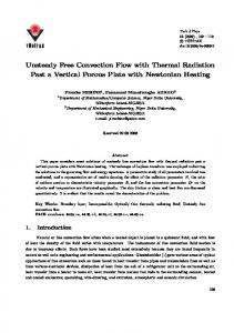 Unsteady Free Convection Flow with Thermal Radiation ... - DergiPark