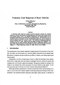 Unsteady Gust Response of Road Vehicles