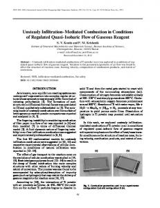 Unsteady infiltration-mediated combustion in conditions of regulated ...