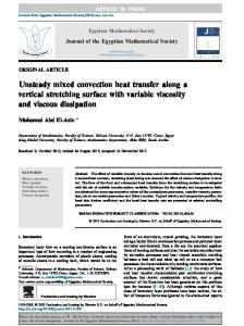 Unsteady mixed convection heat transfer along a