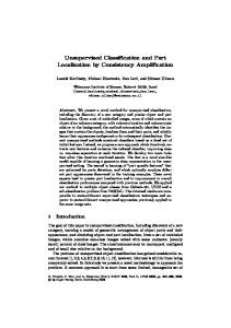Unsupervised Classification and Part Localization ... - Semantic Scholar