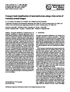 Unsupervised classification of saturated areas using a time series of ...