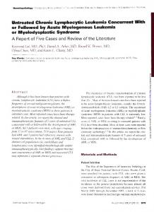 Untreated Chronic Lymphocytic Leukemia ...